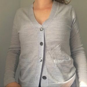 Light Blue J Crew Cardigan Sweater